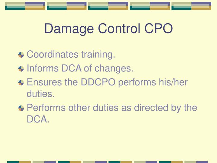 Damage Control CPO
