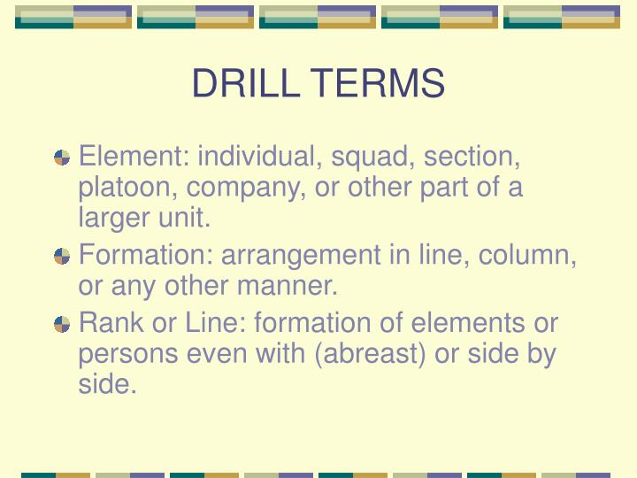DRILL TERMS