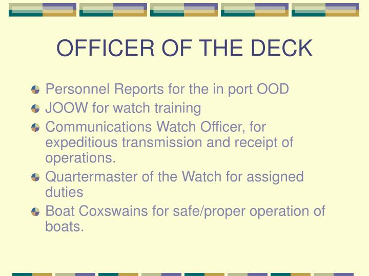 OFFICER OF THE DECK