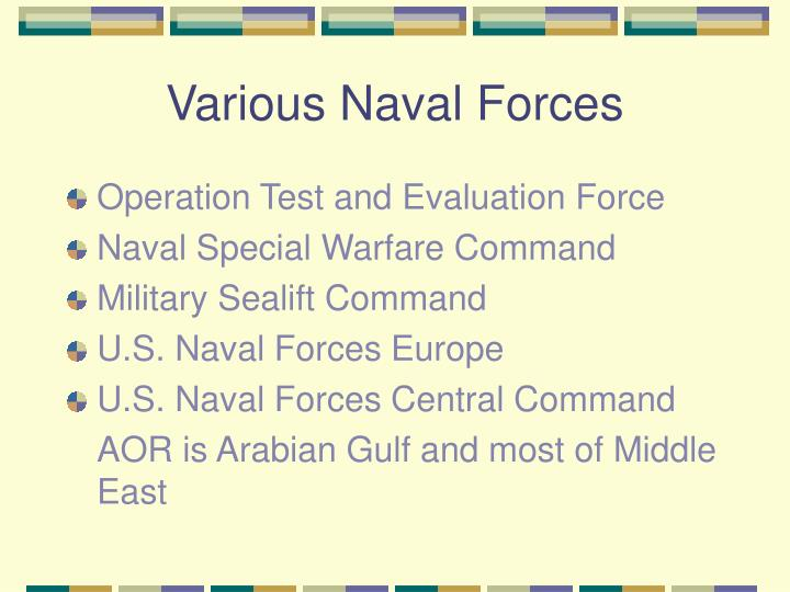 Various Naval Forces