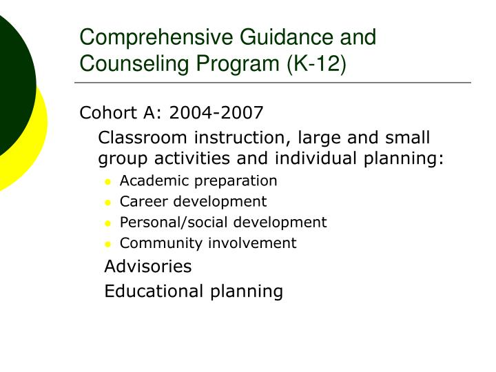 Comprehensive Guidance and Counseling Program (K-12)