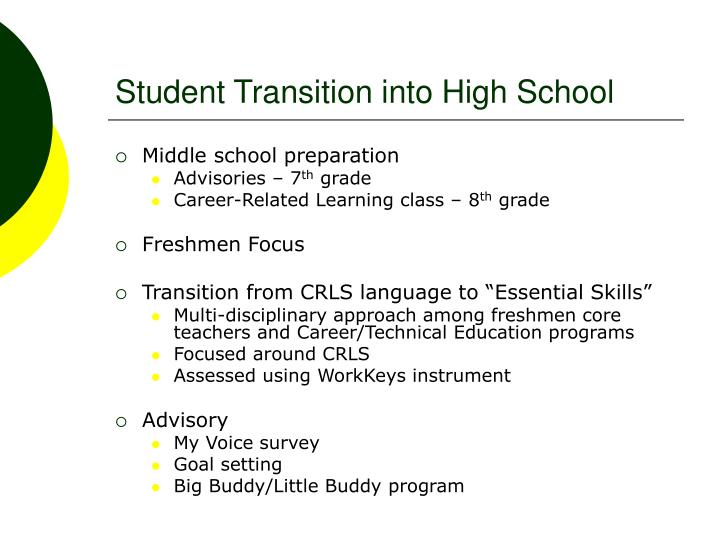 Student Transition into High School