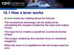10 1 how a lever works