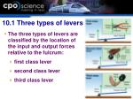10 1 three types of levers