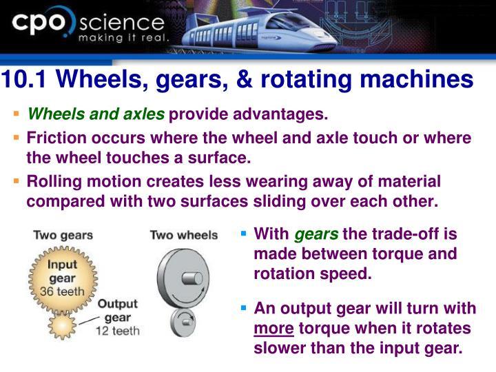 10.1 Wheels, gears, & rotating machines