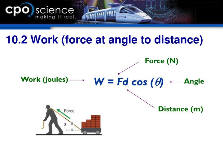 10.2 Work (force at angle to distance)