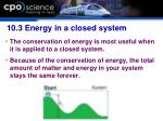 10 3 energy in a closed system