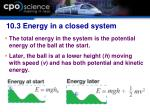 10 3 energy in a closed system1