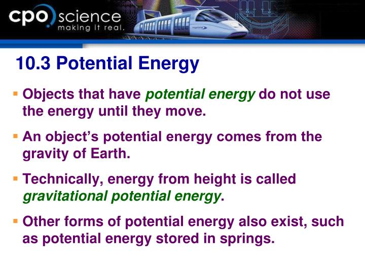 10.3 Potential Energy
