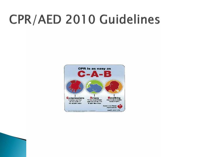 CPR/AED 2010 Guidelines