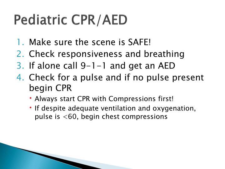 Pediatric CPR/AED