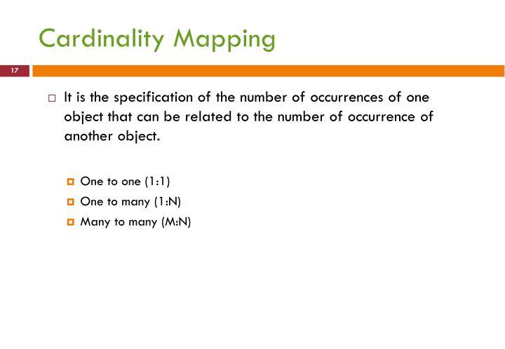 Cardinality Mapping