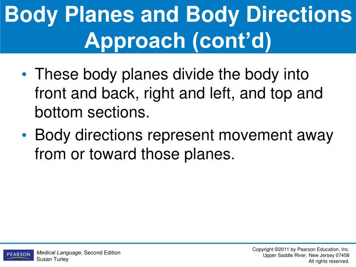 Body Planes and Body Directions Approach (cont'd)