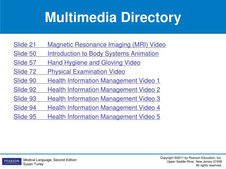 Multimedia Directory