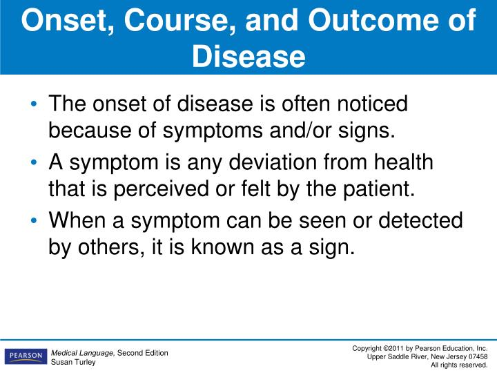 Onset, Course, and Outcome of Disease
