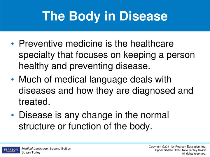 The Body in Disease