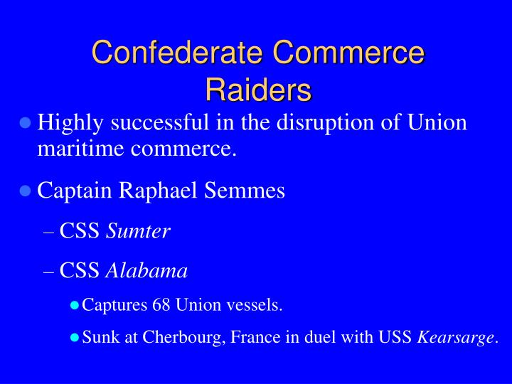 Confederate Commerce Raiders