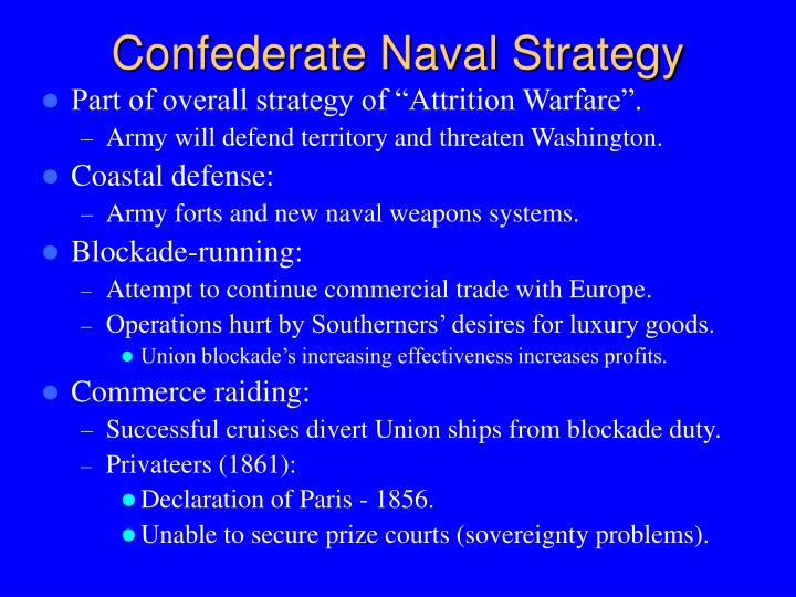 Confederate Naval Strategy