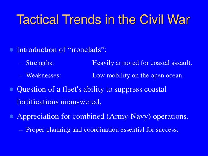Tactical Trends in the Civil War