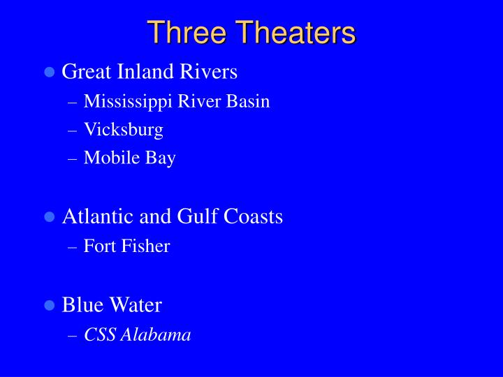 Three Theaters