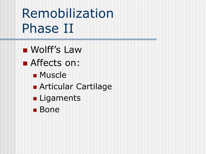 Remobilization