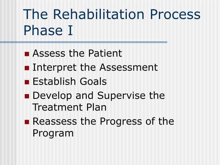 The Rehabilitation Process