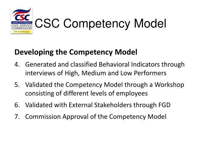 CSC Competency Model