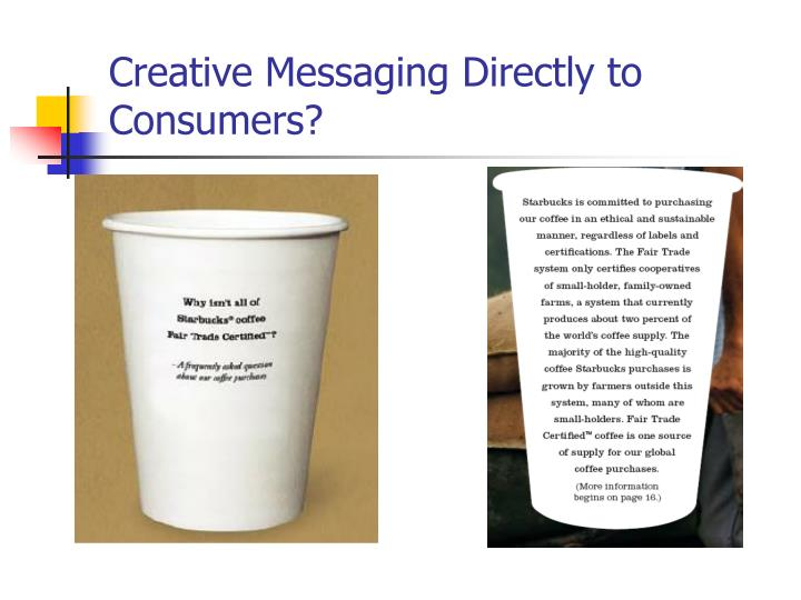 Creative Messaging Directly to Consumers?