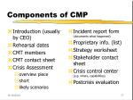 components of cmp