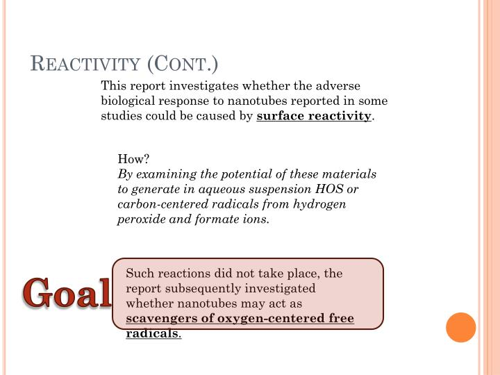 Reactivity (Cont.)