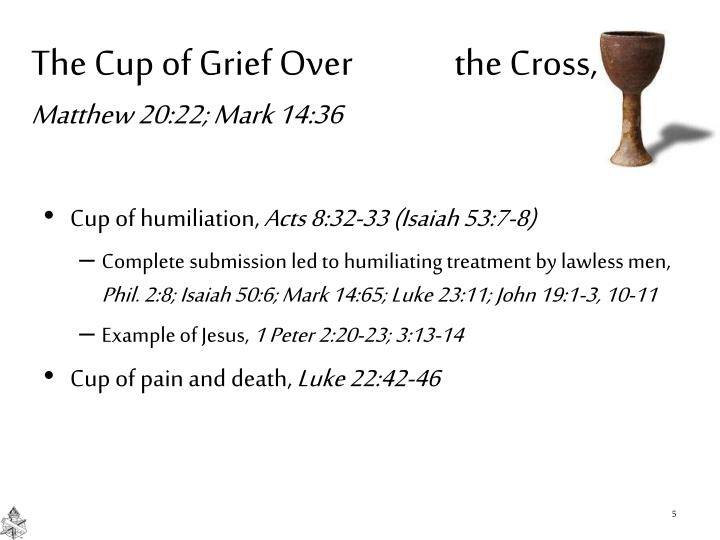 The Cup of Grief Over              the Cross,