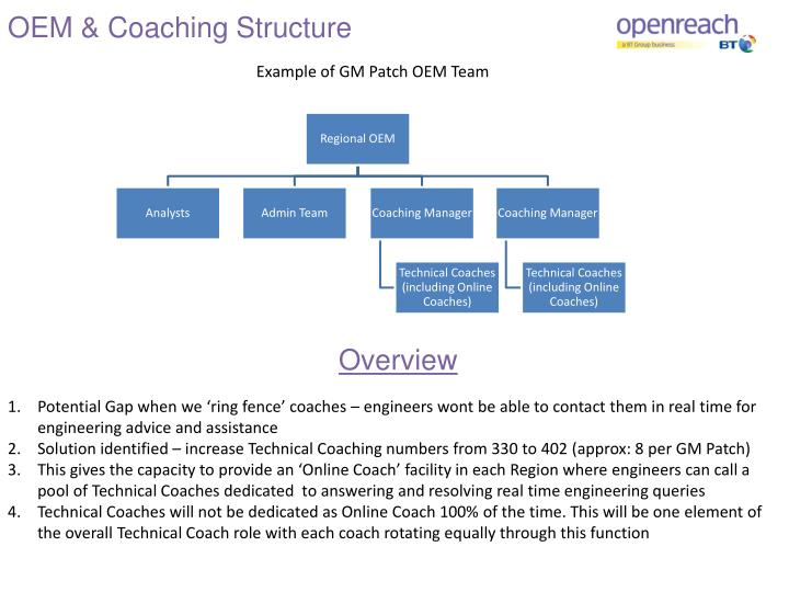 OEM & Coaching Structure