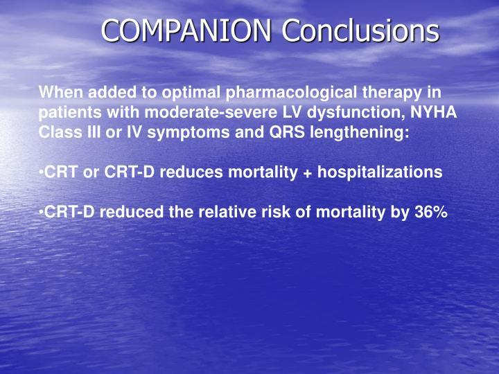 COMPANION Conclusions