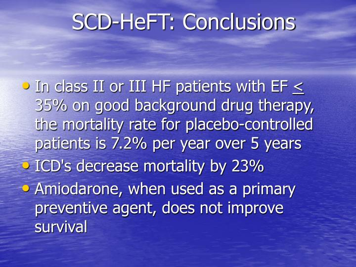 SCD-HeFT: Conclusions