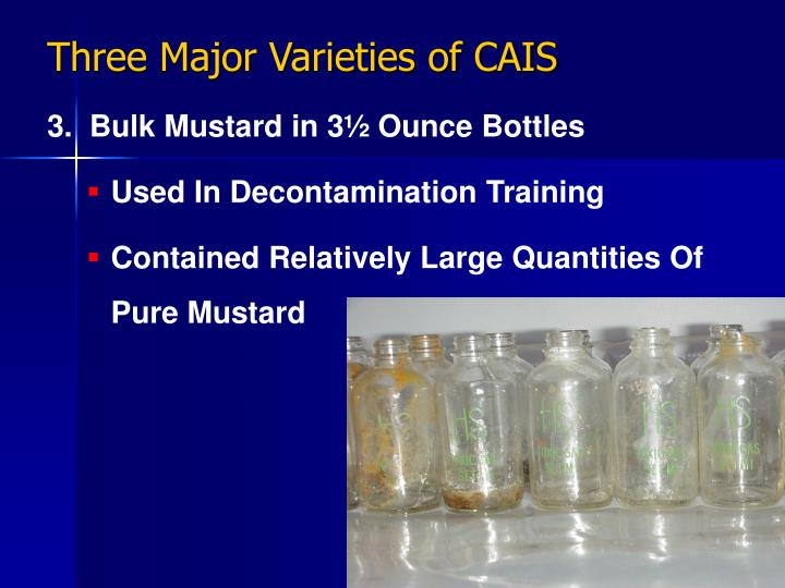 Three Major Varieties of CAIS