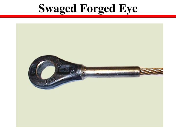 Swaged Forged Eye