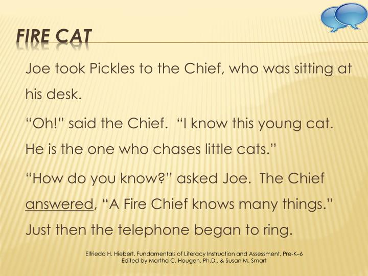 Joe took Pickles to the Chief, who was sitting at his desk.