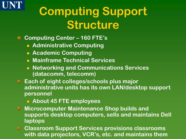 Computing Support Structure