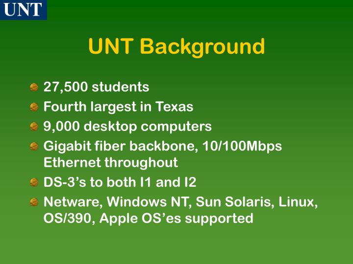 Unt background