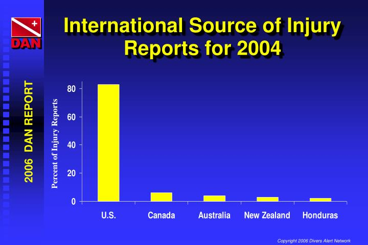 International Source of Injury Reports for 2004