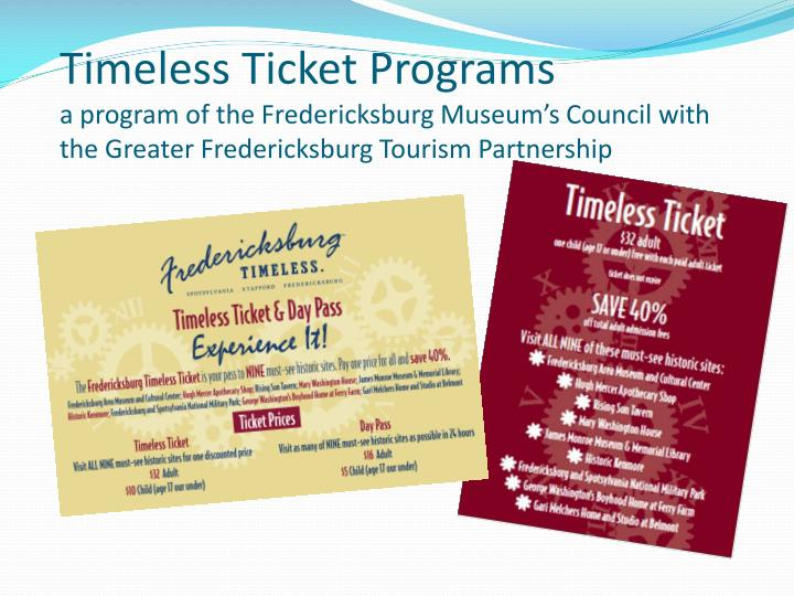 Timeless Ticket Programs