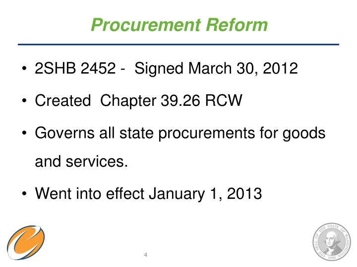 Procurement Reform