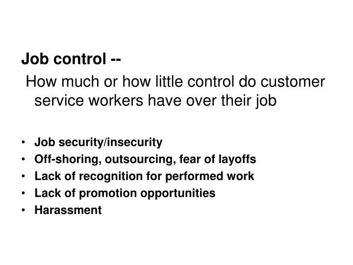 Job control --