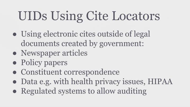 UIDs Using Cite Locators