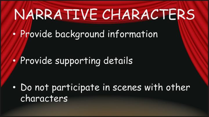 NARRATIVE CHARACTERS