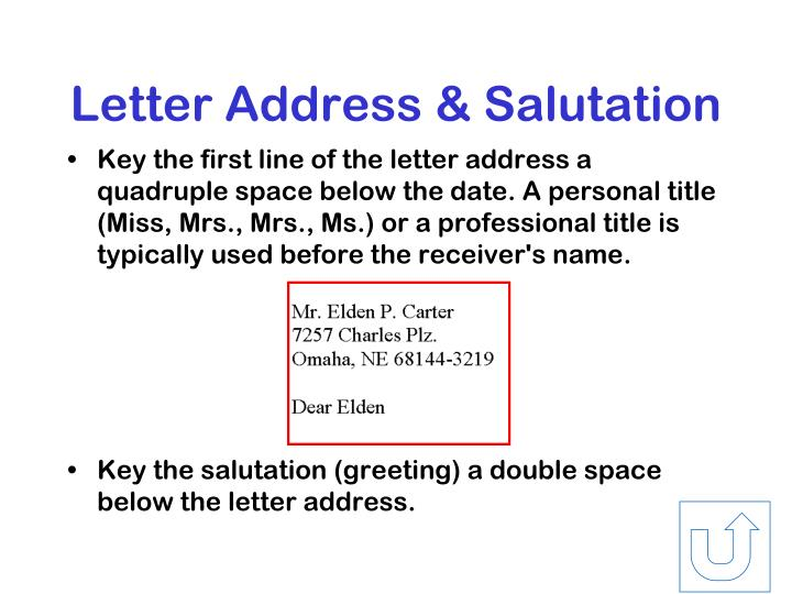 Letter Address & Salutation
