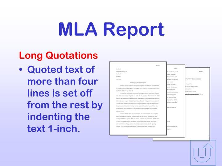 MLA Report