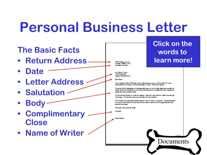 Personal Business Letter