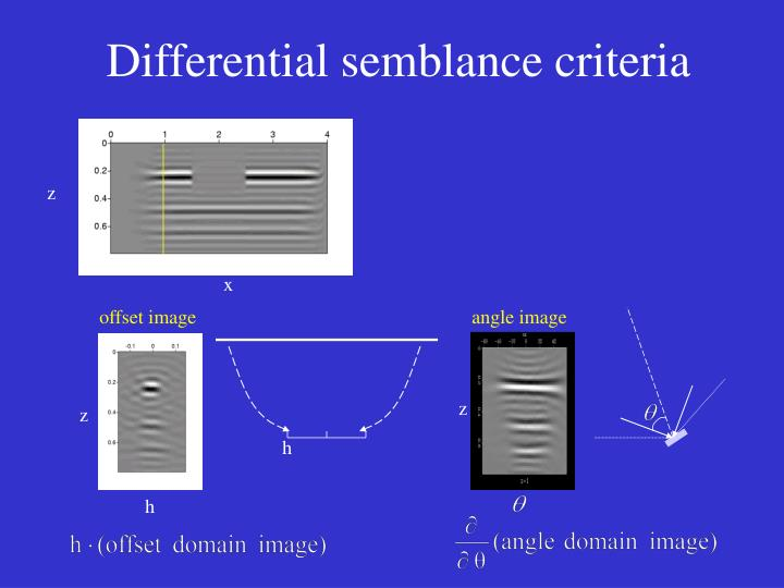 Differential semblance criteria