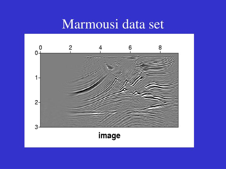 Marmousi data set